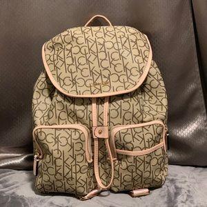 Calvin Klein Blush Pink/Tan Backpack